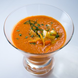 Roasted Red Bell Pepper Gazpacho