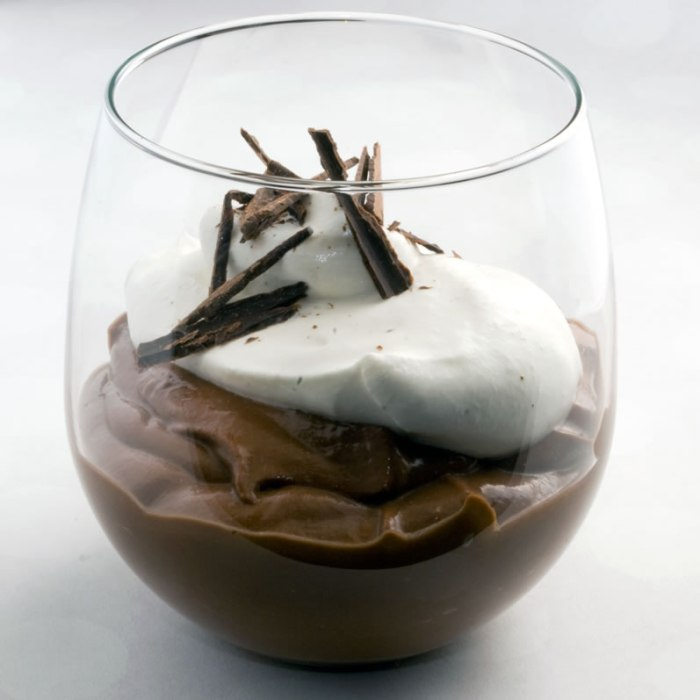 LunaCafe's Ultimate Chocolate Pudding in Balloon Glass
