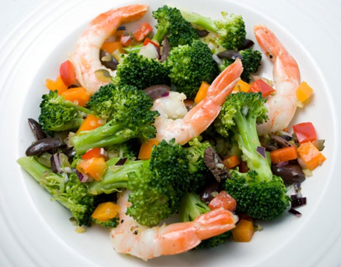 Spanish Broccoli & Prawn Salad
