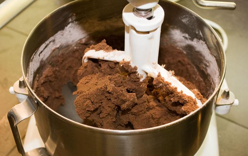 Dough in mixer