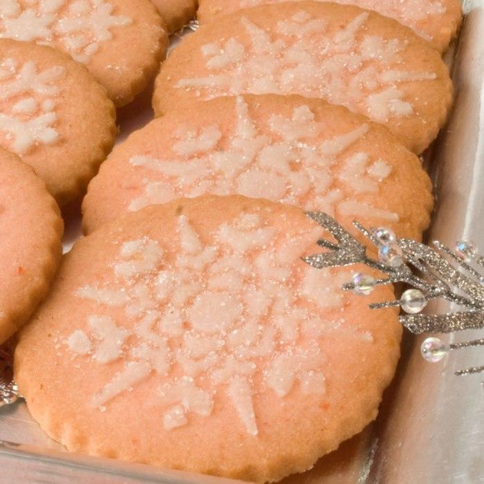 Closeup of Maraschino Cherry Butter Cookies on the Plate