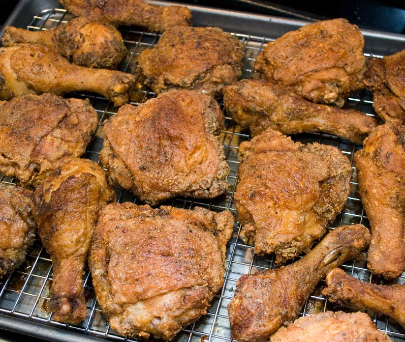LunaCafe's Spicy Fried Chicken Fresh from the Oven