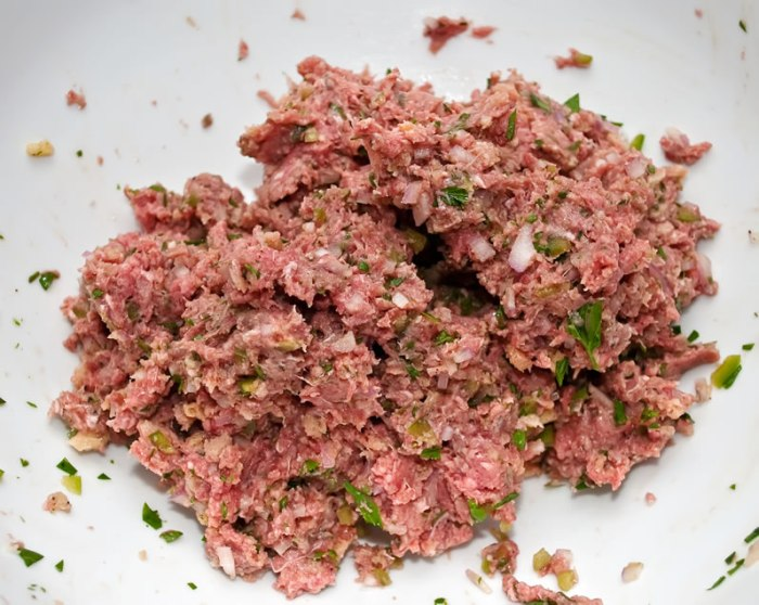 Hamburger Mixture, Ready to Shape