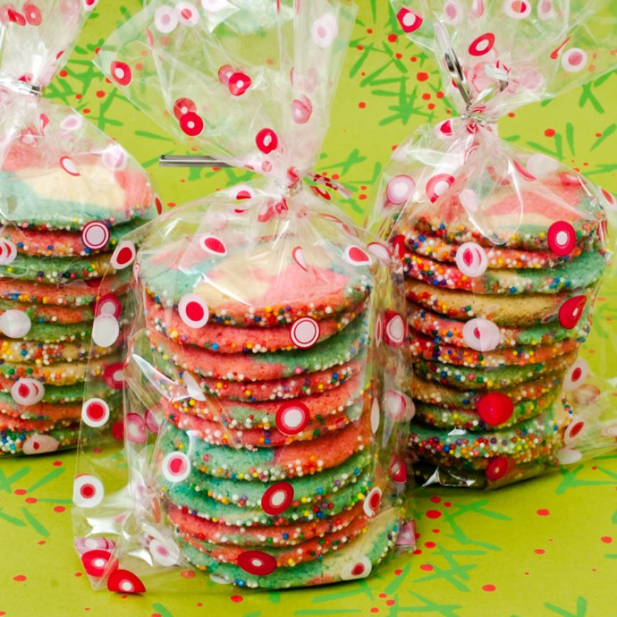 Peppermint Lime Kaleidoscope Cookies | LunaCafe