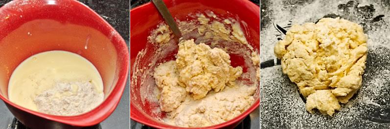 Making scone dough