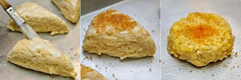 Glazing & finishing scones