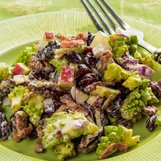Romanesco, Applewood-Smoked Bacon, Cranberry & Pecan Salad