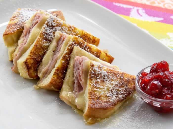 Monte Cristo Sandwich with Cranberry Sauce