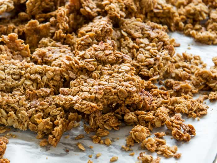 Baked Pumpkin Spice Granola Clusters