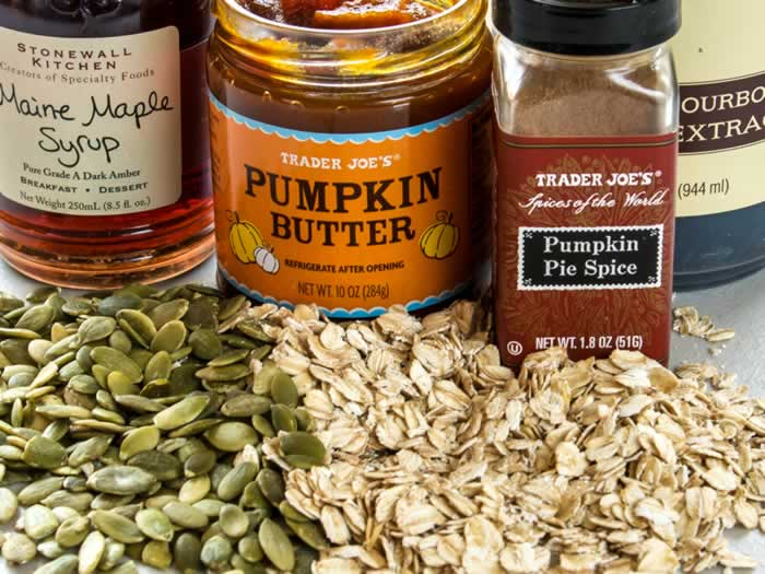 Ingredients for Pumpkin Spice Granola Clusters