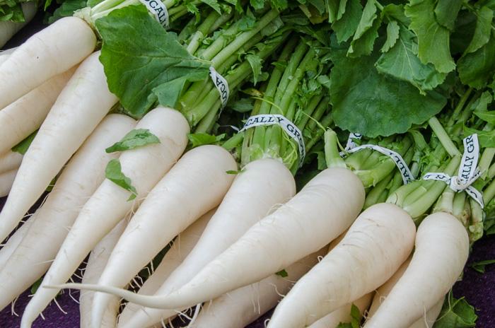 Portland Farmers Market Opening Day 2014: Daikon Radishes