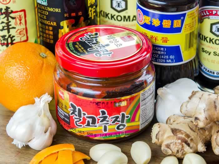 Chinese Spicy Orange Sauce Ingredients