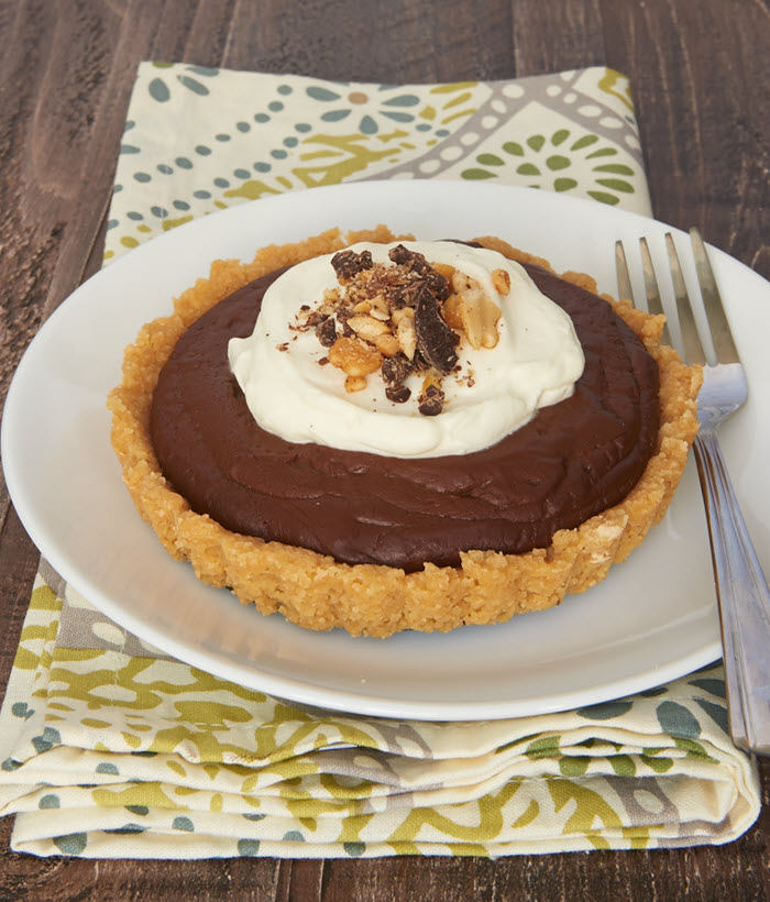 Chocolate Peanut Butter Pudding Tarts   Bake or Break