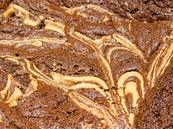 Peanut Butter Fudge Brownies 6