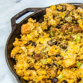 Smokin' Hot Cajun Cornbread Stuffing with Andouille Sausage