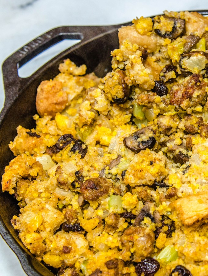Smokin' Hot Cajun Cornbread Stuffing with Andouille Sausage | LunaCafe