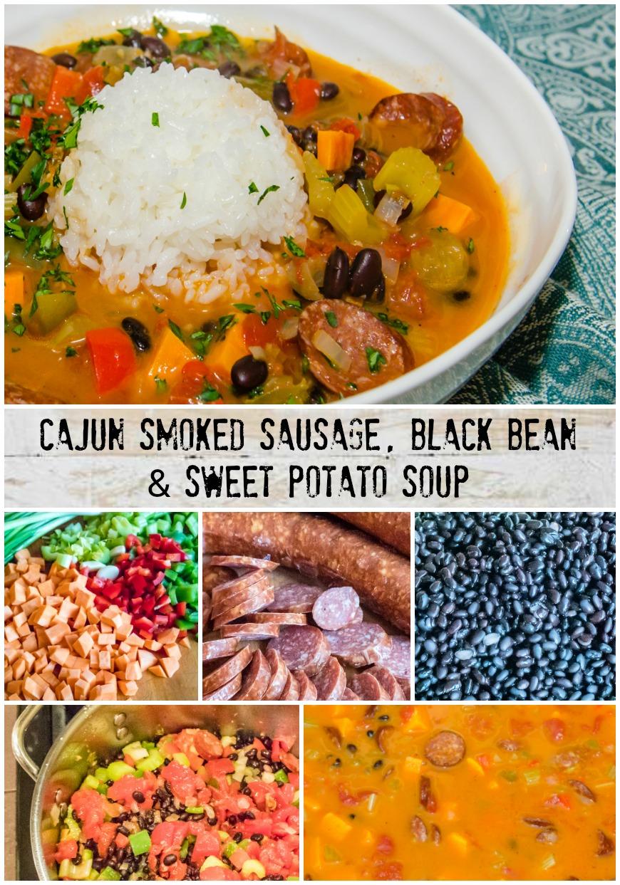 Cajun Smoked Sausage, Black Bean & Sweet Potato Soup | LunaCafe