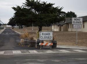 Road closure sign.