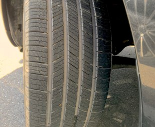 A good, rain-ready tire with well-defined tread. Photo by Kristen Finley.