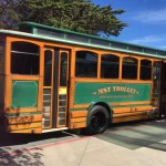 MST Trolley on CSUMB campus