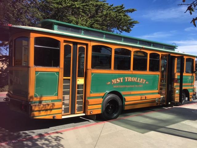 MST Trolley on CSUMB campus