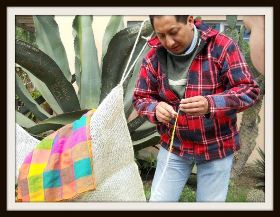 Making textiles out of Maguey