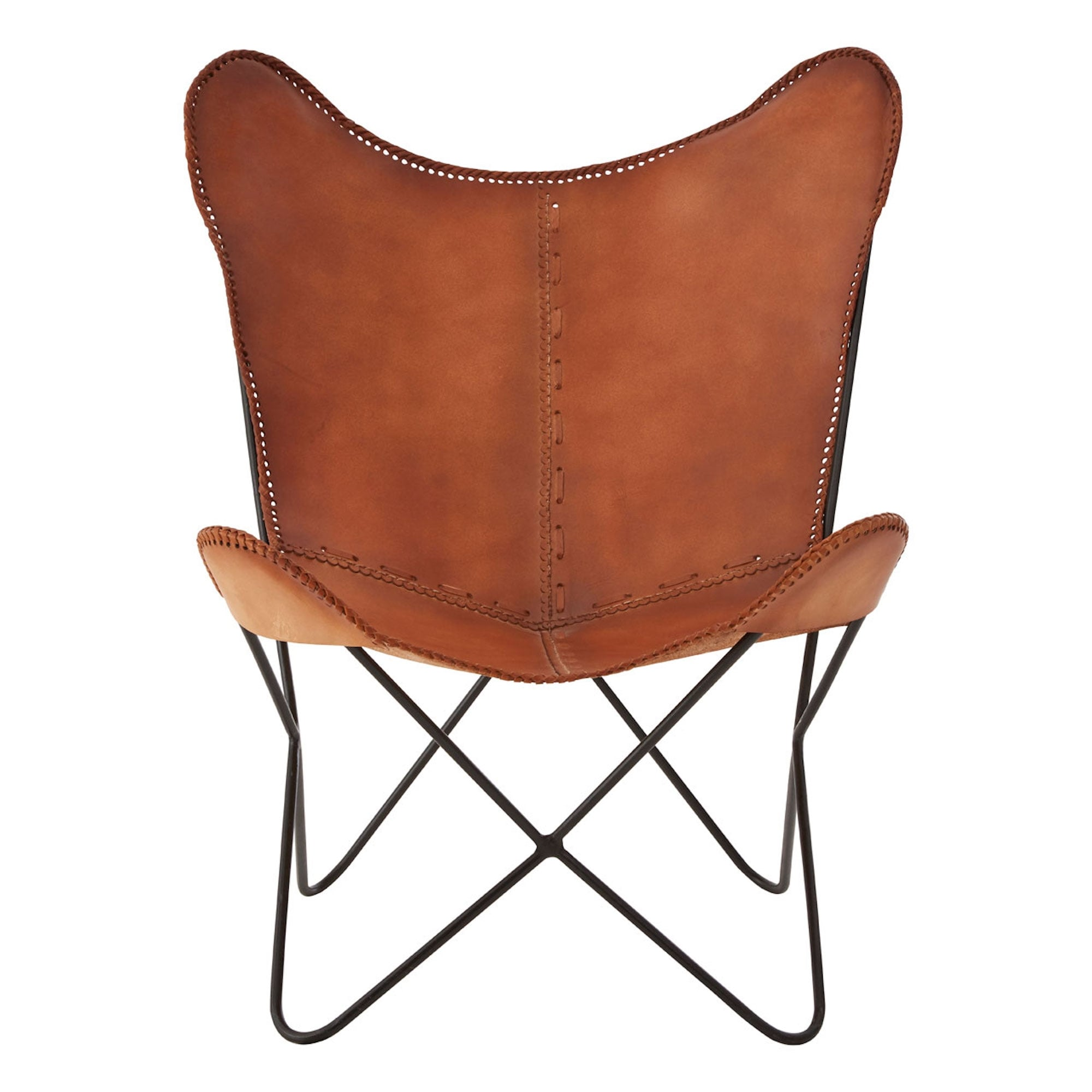 Brown Leather Butterfly Chair Brown Buffalo Leather Butterfly Chair With Iron Frame