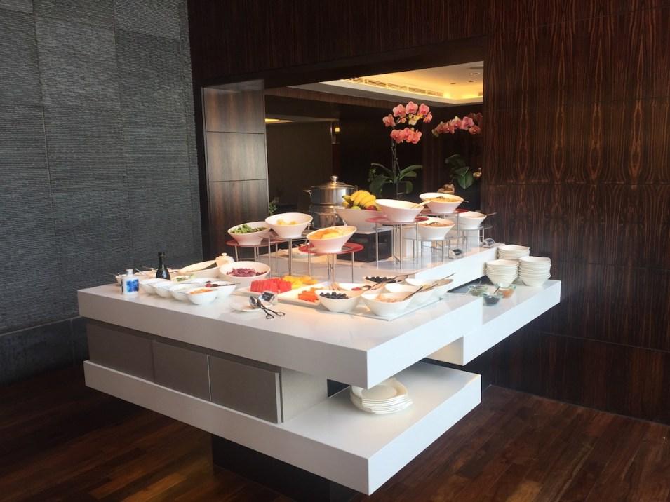 Oriental Club lounge buffet breakfast