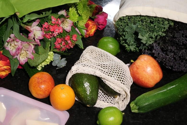 stasher, produce bag and food