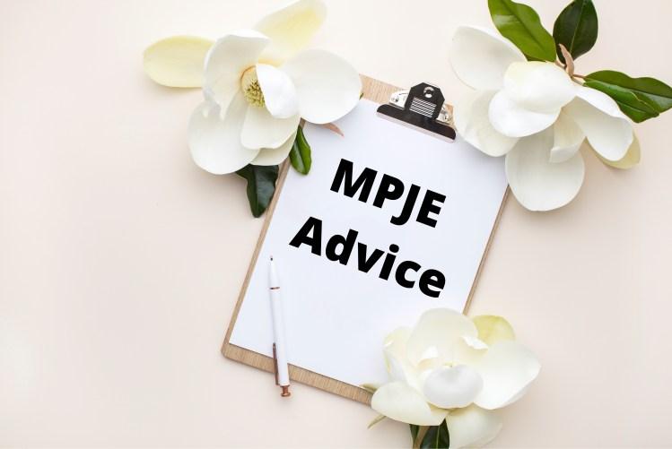 MPJE Advice