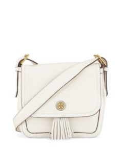 Tory Burch Frances Pebbled Leather Saddle Bag