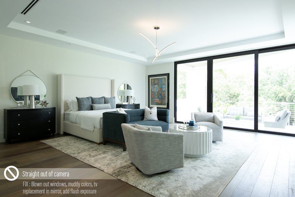 Before after photography interiors