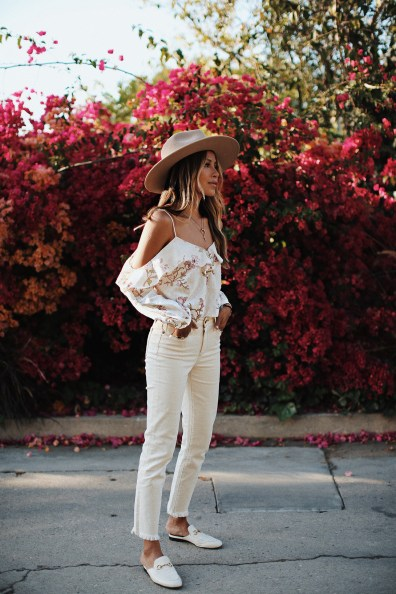 "LUX Magazine white_denim7 California Fashion Icon Style | JulieSariñana ""Sincerely Jules"""