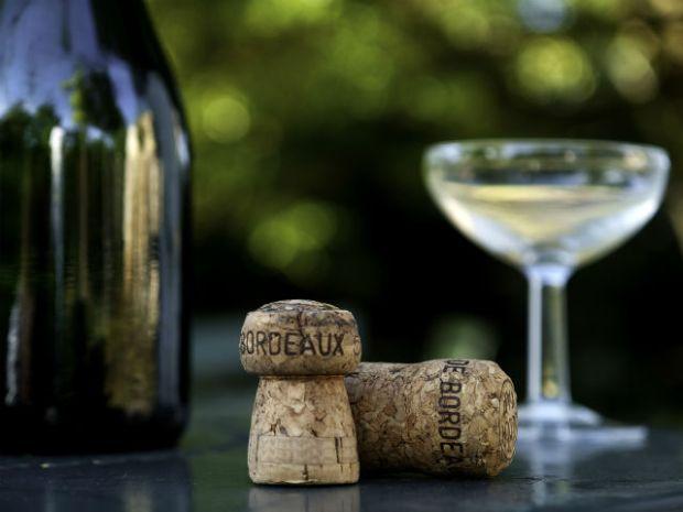 Wine bottle and cork Bordeaux