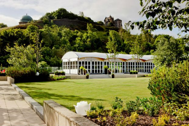 The Glasshouse Rooftop Garden with View of Calton Hill