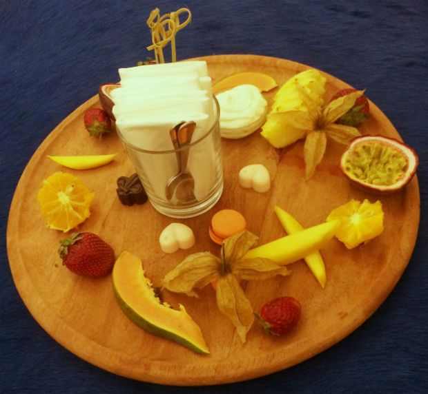 Pallas Athena welcome fruit platter 1
