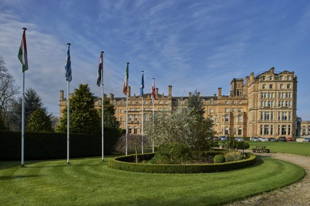Principal York_Exterior_garden_flagpoles