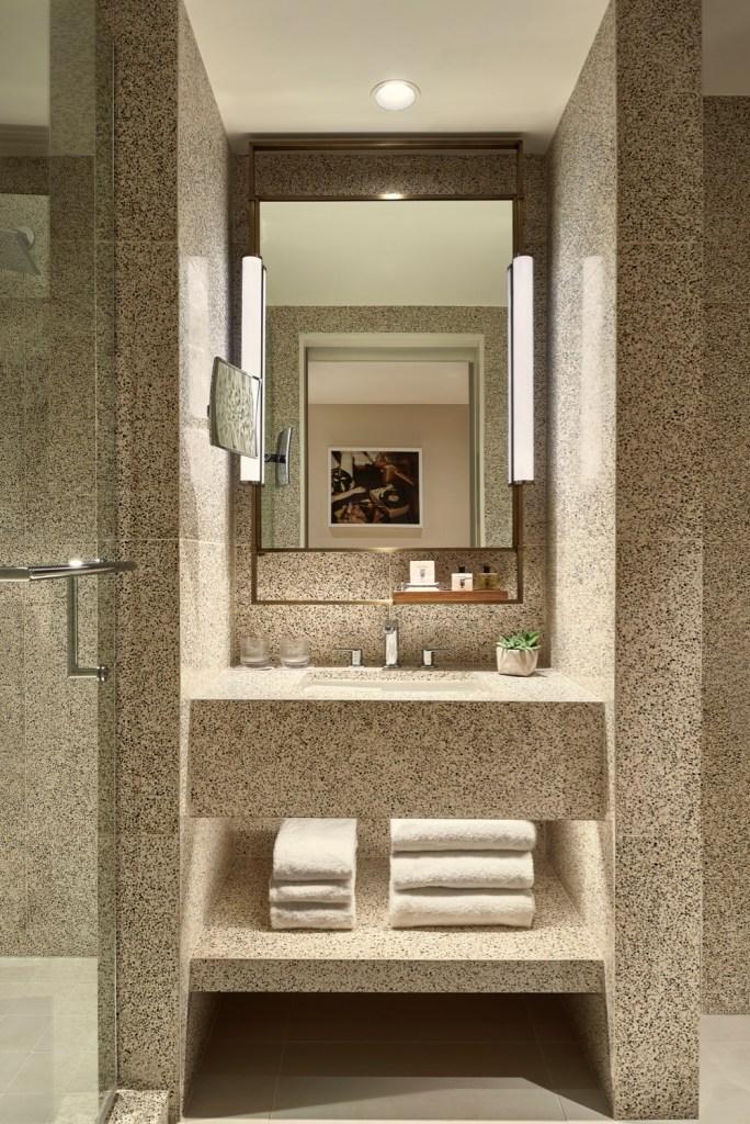 Thompson Hollywood by Tara Bernerd Partners Guest Room Bathroom