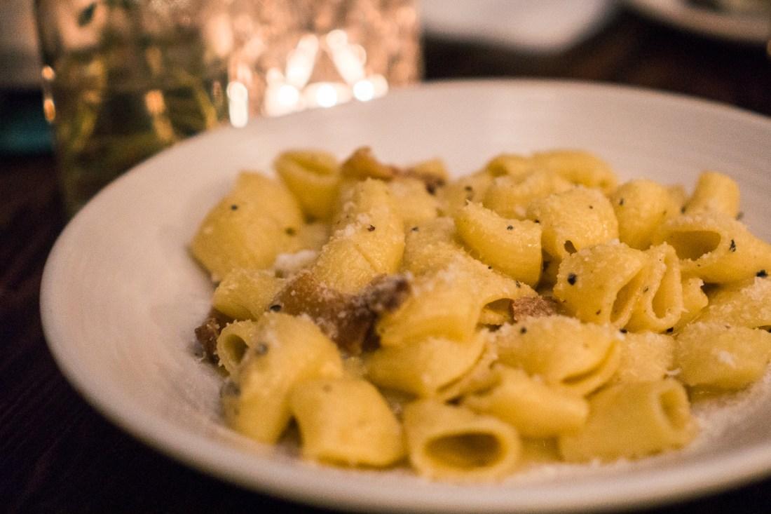 Fingers Crossed Pasta (Mezze Rigatoni Alla Carbonara or Carbonara Pasta)