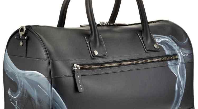 Gladstone London leather G9 duffel bag in Smoke
