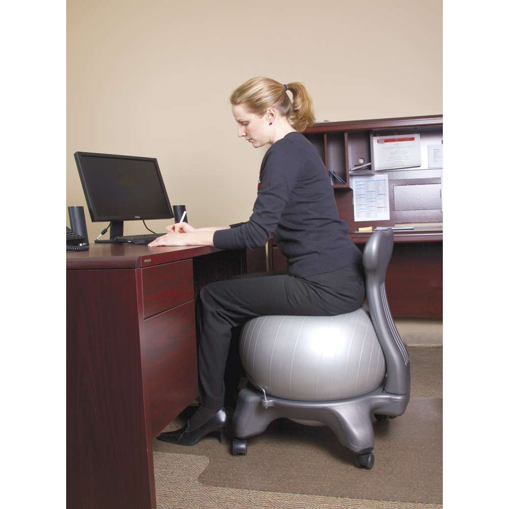 Exercise Ball Desk Chair Tone Up While You Sit With The Exercise Ball Chair