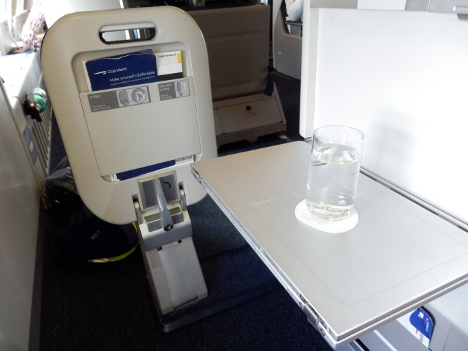 BRITISH AIRWAYS CLUB WORLD FOOR REST