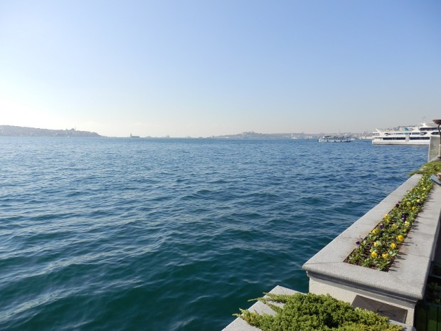 VIEW ON BOSPHORUS FROM HOTEL TERRACE