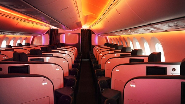 VIRGIN ATLANIC BOEING 787 DREAMLINER UPPER CLASS