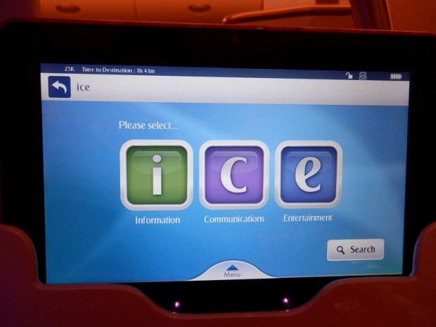 INFLIGHT ENTERTAINMENT SYSTEM: ICE