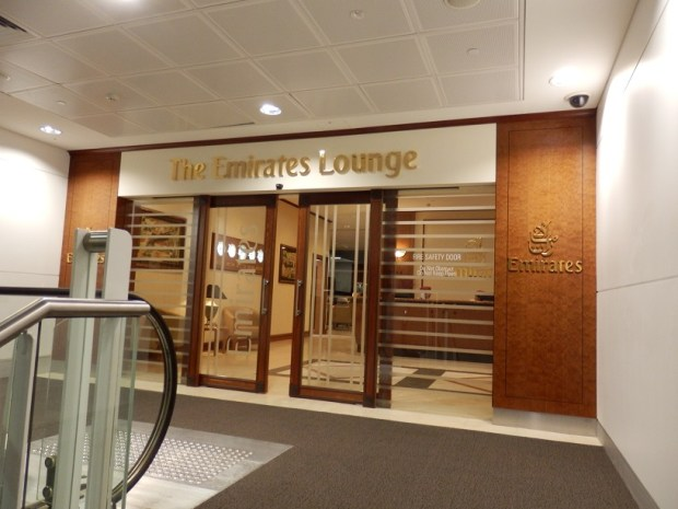 EMIRATES LOUNGE AT BRISBANE INTERNATIONAL AIRPORT