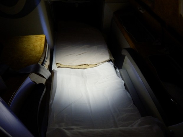 BUSINESS CLASS SEAT 23K: FLAT BED WITH DUVET