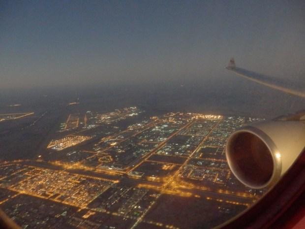 LANDING AT ABU DHABI