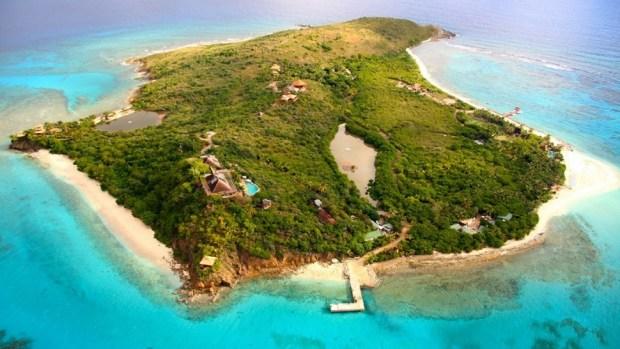 NECKER ISLAND, VIRGIN ISLANDS, OWNED BY RICHARD BRANSON