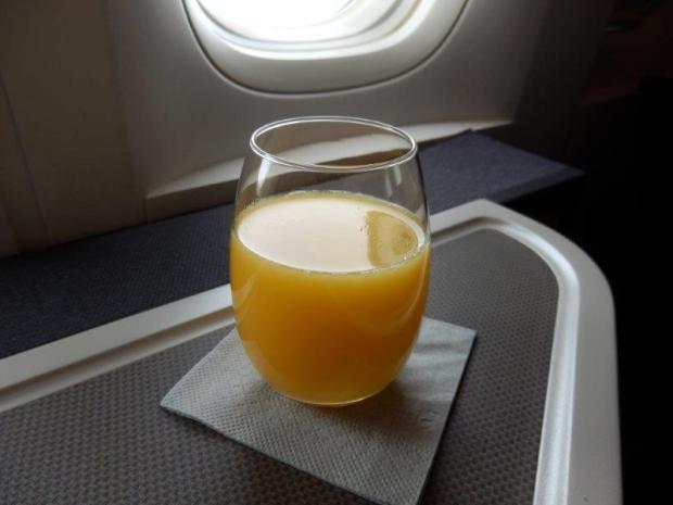 ORANGE JUICE AFTER TAKEOFF